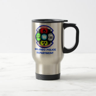 Orlando PD Hazmat1, ORLANDO POLICE DEPARTMENT Stainless Steel Travel Mug