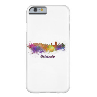 Orlando skyline in watercolor barely there iPhone 6 case