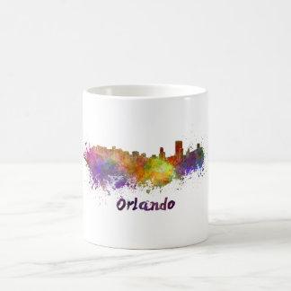 Orlando skyline in watercolor coffee mug