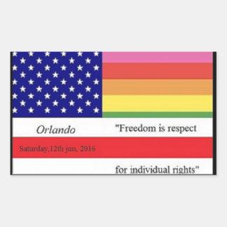 #Orlando tribute to victims Rectangular Sticker