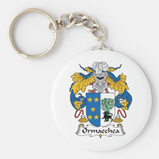 Ormaechea Family Crest Key Ring