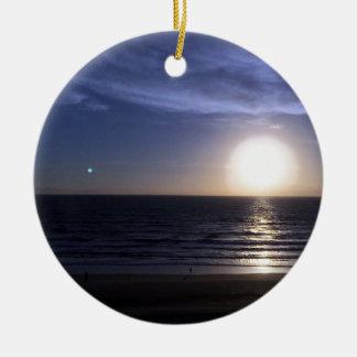 Ormond Beach Sunrise Round Ceramic Decoration