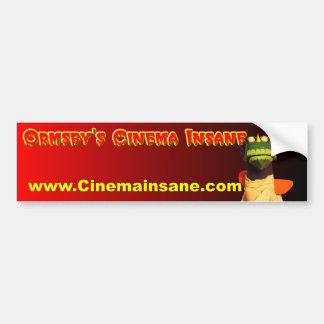 Ormsby s Cinema Insane Bumper Sticker
