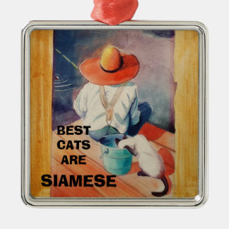 ORNAMENT -BEST CATS ARE SIAMESE