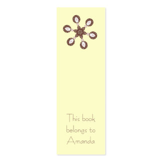 Ornament Bookmark Pack Of Skinny Business Cards