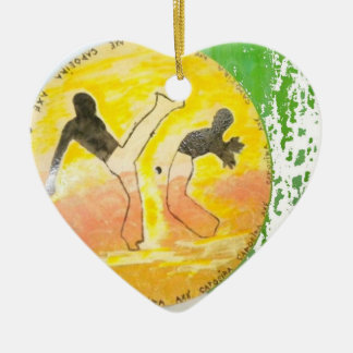ornament capoeira disk martial arts fighters