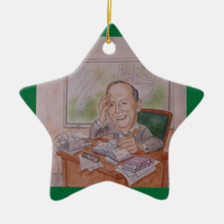 Ornament:  Caricature, Vintage Ceramic Ornament