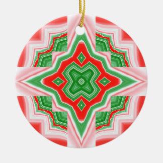 Ornament- Christmas Star Round Ceramic Decoration