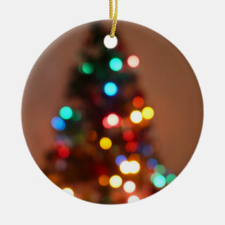 Ornament-Christmas Trees Round Ceramic Decoration