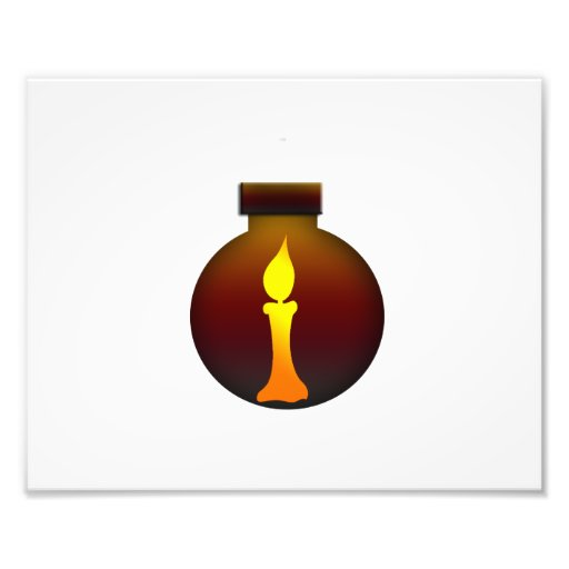 Ornament Dark Sunset with yellow candle graphic Photo Print