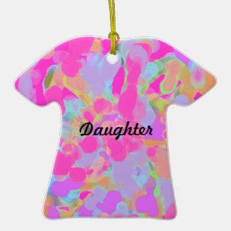 Ornament-dress shaped-daughter ceramic T-Shirt decoration