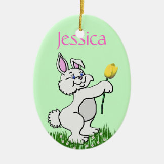 Ornament - Easter - Bunny & Tulip (R/F)