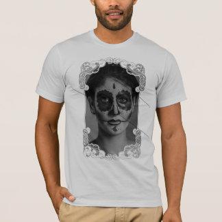 Ornament Flower Girl Skull T-Shirt