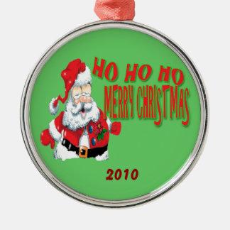 Ornament ho ho ho merry christmans, 2010