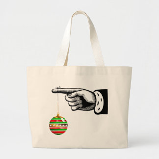 Ornament Hug From A Finger Jumbo Tote Bag