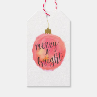 Ornament Merry & Bright Gift Tag
