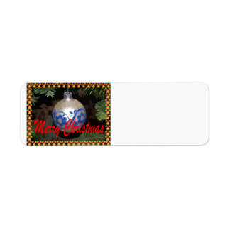 Ornament Merry Christmas Avery Label Return Address Label