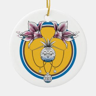 Ornament of Christmas tree amaryllis pinks