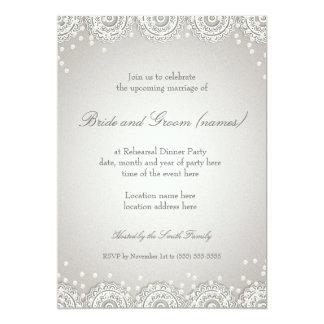 Ornament & Pearls | Wedding Rehearsal Dinner 13 Cm X 18 Cm Invitation Card