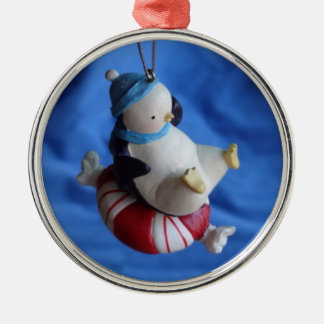 Ornament Penguin on peppermint candy