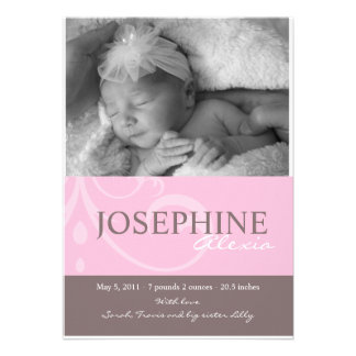 Ornament Pink Baby Announcement