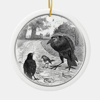 Ornament Raven Holding Court