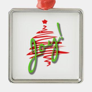 Ornament Square Joy with Christmas Tree