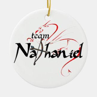 Ornament: Team NATHANIEL! Round Ceramic Decoration