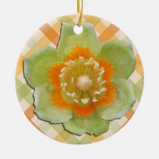 Ornament - Tulip Poplar Tulip on Checks