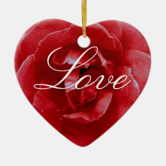 Ornament - Valentine s - Red Red Rose - Love