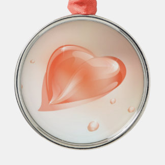 Ornament  with drop  heart shaped design.