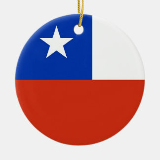 Ornament with flag of Chile