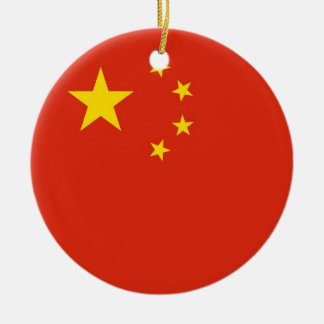 Ornament with flag of China
