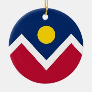 Ornament with flag of Denver, Colorado