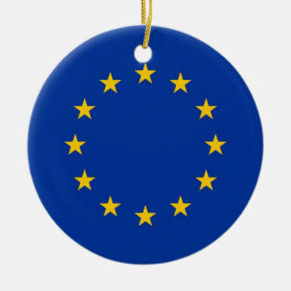 Ornament with flag of European Union