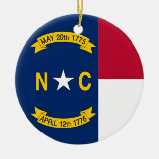 Ornament with flag of North Carolina