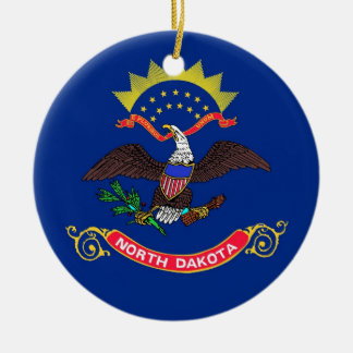 Ornament with flag of North Dakota