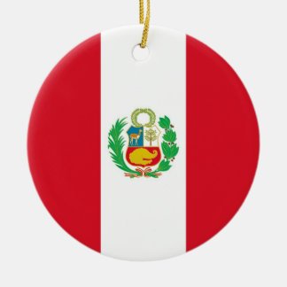 Ornament with flag of Peru