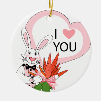 Ornament with funny rabbits