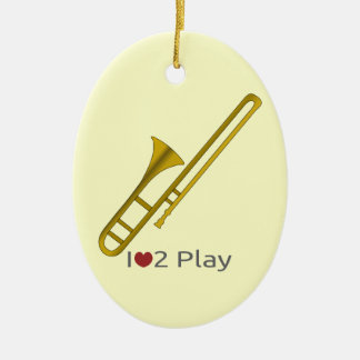 Ornament with illustration of a trombone
