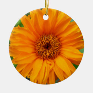 Ornament with orange flower