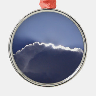 ornament with photo of cloud with silver lining