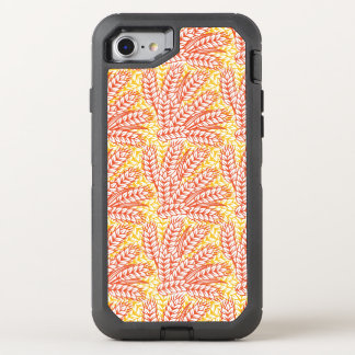 Ornament with wheat ears OtterBox defender iPhone 7 case