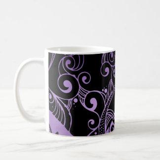 Ornamental Black and Purple Mug