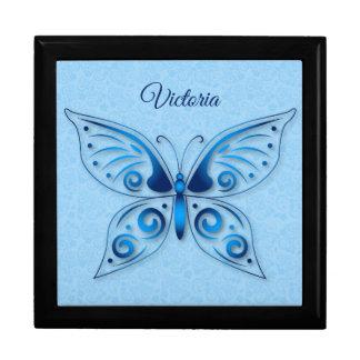 Ornamental Blue Butterfly Gift Box