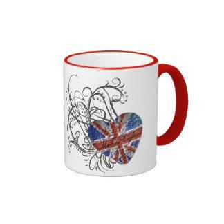 Ornamental British Flag Ringer Mug