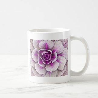 Ornamental cabbage basic white mug