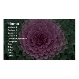 Ornamental cabbage texture business card templates