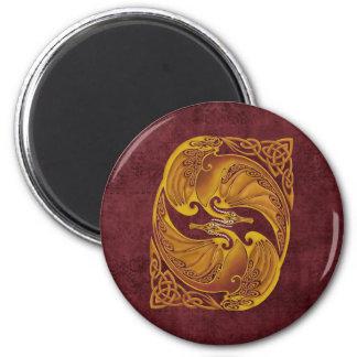 Ornamental Celtic Dragons Magnet