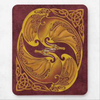 Ornamental Celtic Dragons Mouse Pad